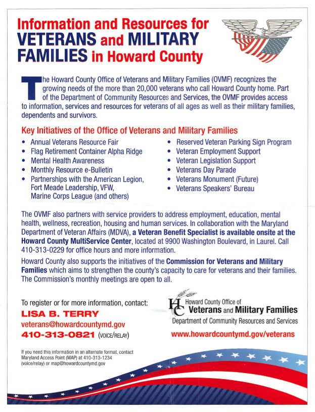 Information and Resources for Veterans and Military Families Sheet